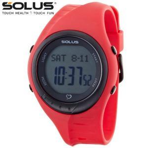 心拍計測 ランニングウォッチ 腕時計 ソーラス SOLUS メンズ腕時計 Team Sports 300-04 レッド zennsannnet