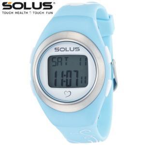 心拍計測 ランニングウォッチ 腕時計 ソーラス SOLUS メンズ腕時計 Leisure 800-03 ライトブルー×バタフライ|zennsannnet