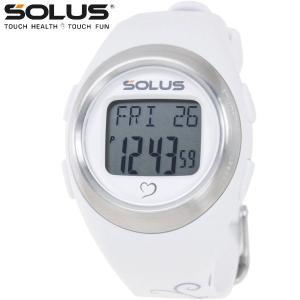 心拍計測 ランニングウォッチ 腕時計 ソーラス SOLUS メンズ腕時計 Leisure 800-04 パールホワイト×バタフライ zennsannnet