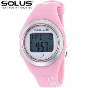 心拍計測 ランニングウォッチ 腕時計 ソーラス SOLUS メンズ腕時計 Leisure 800-07 ピンク×バタフライ|zennsannnet