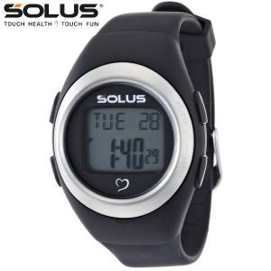 心拍計測 ランニングウォッチ 腕時計 ソーラス SOLUS メンズ腕時計 Leisure 800-201 ブラック zennsannnet
