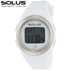 心拍計測 ランニングウォッチ 腕時計 ソーラス SOLUS メンズ腕時計 Leisure 800-202 ホワイト zennsannnet
