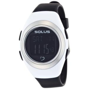 心拍計測 ランニングウォッチ 腕時計 ソーラス SOLUS メンズ腕時計 Leisure 800-205 ホワイトxブラック zennsannnet