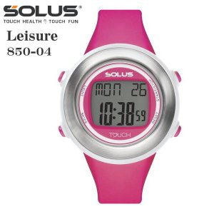 タッチ式心拍計測 腕時計 ランニングウオッチ ソーラス SOLUS レディス腕時計 Leisure 850-04  ピンク ギフト プレゼント|zennsannnet