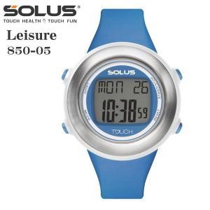 タッチ式心拍計測 腕時計 ランニングウオッチ ソーラス SOLUS レディス腕時計 Leisure 850-05  ブルー ギフト プレゼント|zennsannnet