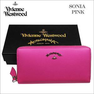 ヴィヴィアン・ウェストウッド ラウンドジップ式長財布  ピンク SONIA ソニア 51050024 NO-10 ギフト プレゼント 贈答品|zennsannnet