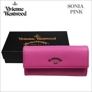 ヴィヴィアン・ウェストウッド ホック式 長財布  ピンク SONIA ソニア 51060017 NO-10 ギフト プレゼント 贈答品|zennsannnet