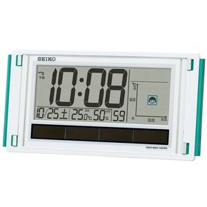 置き掛け兼用時計 快適度表示 温湿度計付 デジタル電波時計 SQ436W ギフト 贈答品 新築祝い zennsannnet
