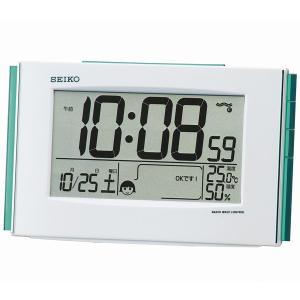 温度・湿度表示付き 快適度表示 目覚し時計 電波時計 デジタル表示 SQ776W|zennsannnet