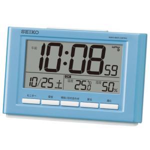 温度・湿度表示付き 快適度表示 目覚し時計 電波時計 デジタル表示 SQ777L|zennsannnet