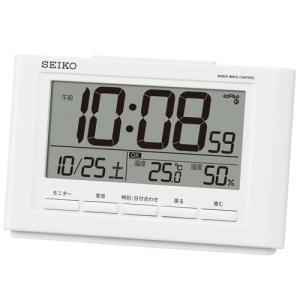 温度・湿度表示付き 快適度表示 目覚し時計 電波時計 デジタル表示 SQ777W|zennsannnet