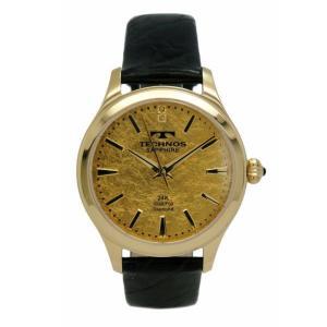 テクノス TECHNOS メンズ腕時計 金箔文字盤 T1033GC|zennsannnet