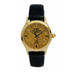 テクノス TECHNOS レディス腕時計 金箔文字盤 T1766GC|zennsannnet