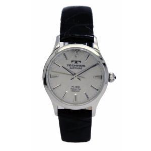 テクノス TECHNOS レディス腕時計 プラチナ箔文字盤 T1766SS|zennsannnet