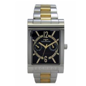 テクノス TECHNOS メンズ腕時計 スクエアー型 マルチファンクション T2046GB|zennsannnet