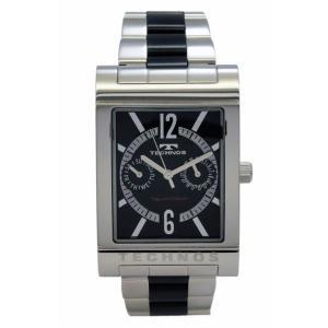 テクノス TECHNOS メンズ腕時計 スクエアー型 マルチファンクション T2046TB|zennsannnet
