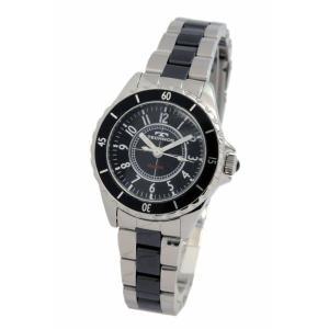 テクノス TECHNOS レディス腕時計 ブラックセラミックバンド T3765TB|zennsannnet