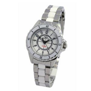 テクノス TECHNOS レディス腕時計 ホワイトセラミックバンド T3765TW|zennsannnet