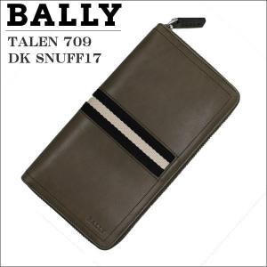 バリー メンズ財布 ラウンドジップ財布 ファスナー小銭入れ付  TALEN 709 DK SNUFF17 6124747|zennsannnet