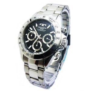 テクノス TECHNOS メンズ腕時計 100m防水仕様 クロノグラフ TGM615-SB|zennsannnet