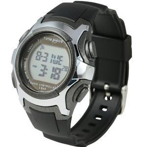 電波ソーラー(デュアルパワー)  デジタル時計 タイムピース Time Piece TPW-001GM|zennsannnet