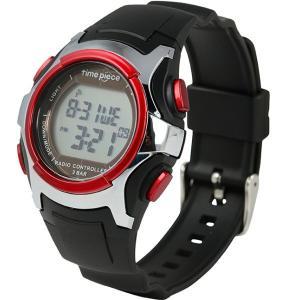 電波ソーラー(デュアルパワー)  デジタル時計 タイムピース Time Piece TPW-001BRD|zennsannnet
