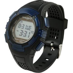 電波ソーラー(デュアルパワー) デジタル時計 タイムピース Time Piece TPW-002BL|zennsannnet
