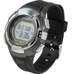 電波ソーラー(デュアルパワー) デジタル時計 タイムピース Time Piece TPW-002GM|zennsannnet