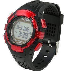 電波ソーラー(デュアルパワー) デジタル時計 タイムピース Time Piece TPW-002RD|zennsannnet