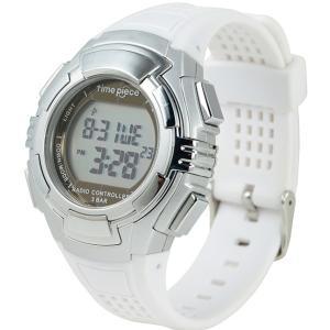 電波ソーラー(デュアルパワー) デジタル時計 タイムピース Time Piece TPW-002WH|zennsannnet