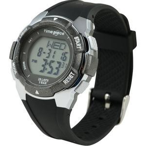 ランニングウォッチ 20LAP  デジタル時計 タイムピース Time Piece TPW-004BK|zennsannnet