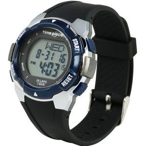 ランニングウォッチ 20LAP  デジタル時計 タイムピース Time Piece TPW-004BL|zennsannnet