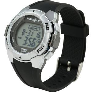 ランニングウォッチ 20LAP  デジタル時計 タイムピース Time Piece TPW-004SV|zennsannnet