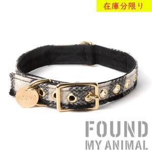 首輪 カラー 犬用 Found My Animal ファウンド マイ アニマル / ウール&キャンバス ブラック&ホワイト 海外直輸入 / 小型犬 中型犬 大型犬
