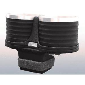【メーカー直送品】アルカボ ドリンクホルダー ブラック/リング AL-P202BS ボクスター・718ボクスター(タイプ981)  右/左ハンドル車 灰皿ナシ車専用|zenrin-ds