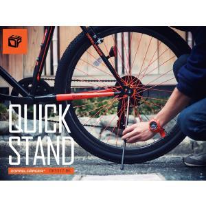 ドッペルギャンガー クイックスタンド 自転車スタンド 簡単着脱 650 700C、26インチ対応 DKS317-BK ブラック 4589946134544|zenrin-ds
