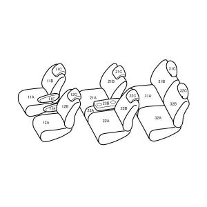 セレナ [H17/5-H19/5][C25] ワイルドステッチ ライトベージュxホワイト シートカバー zenrin-ds 02
