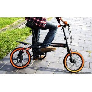 DOPPELGANGER / ドッペルギャンガー 16インチアルミ折りたたみ自転車 104 blackbullet2 (沖縄・離島除く) 4582143464735|zenrin-ds