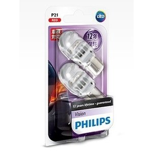 PHILIPS フィリップス ヴィジョンシリーズ LEDバルブ P21 12V 品番 12839REDB2|zenrin-ds