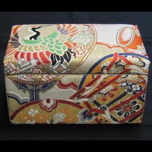 西陣帯小物入れ(長方形) 西陣織り カード入れ 飾り物 アクセサリー箱|zentrading