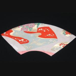 西陣帯 扇型マット中(鳳凰) 西陣織り テーブルセンター  テーブルマット  置物敷き  額飾|zentrading