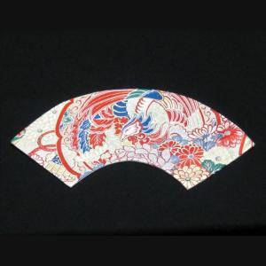 西陣帯 扇型マット大(鳳凰) 西陣織り テーブルセンター  テーブルマット  置物敷き  額飾|zentrading