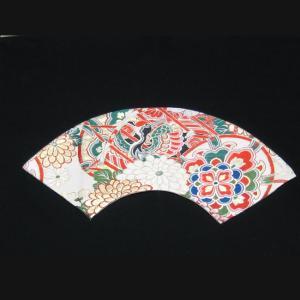 西陣帯 扇型マット大(鶴) 西陣織り テーブルセンター  テーブルマット  置物敷き  額飾|zentrading