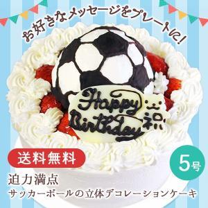 誕生日ケーキ バースデーケーキ サッカーボールの立体デコレーションケーキ 5号 プレゼント ギフト お取り寄せ|zenzaemon