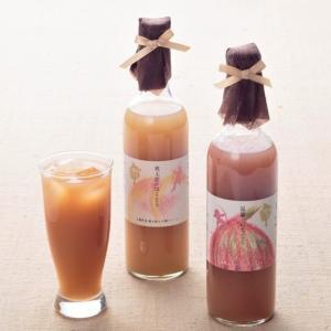 岡山県産 白桃といちじくの濃厚なとろ〜りジュース 2本セット(各500ml)  プレゼント ピーチジュース|zenzaemon