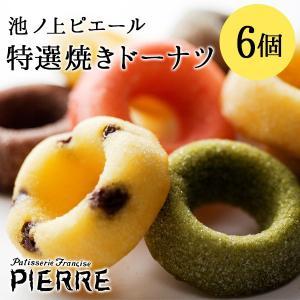 池ノ上ピエール  特選焼きドーナツ 6個 有名 人気 お菓子 スイーツ ギフト プレゼント|zenzaemon