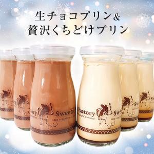 人気 お取り寄せ Sweets Factory チョコ&くちどけプリン 6本セット  クリスマススイーツ プレゼント パーティー|zenzaemon