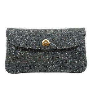 光を纏って美しく輝く スペイン シープレザー FIORINO フィオリーノ かぶせ型 長財布(グレー)|zeppinchibahonpo