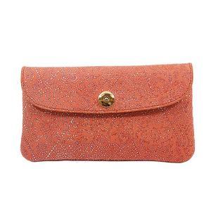 光を纏って美しく輝く スペイン シープレザー FIORINO フィオリーノ かぶせ型 長財布(オレンジ)|zeppinchibahonpo