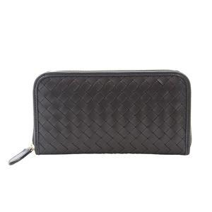 イタリアンキップ メッシュ 本革 ラウンドファスナー 長財布 大きめ 財布 ( ブラック)|zeppinchibahonpo